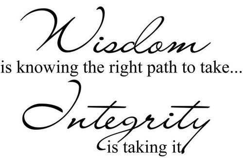 Integrity And Success Inspiring Success